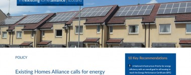 Existing Homes Alliance Scotland website