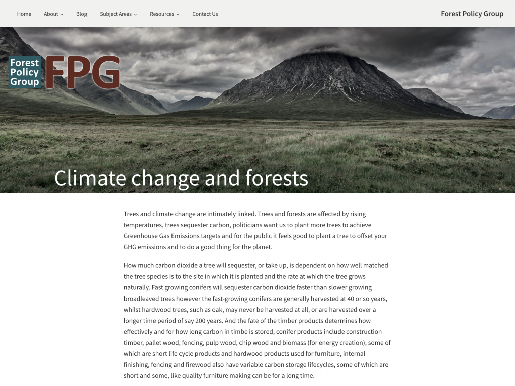 Forest Policy Group website