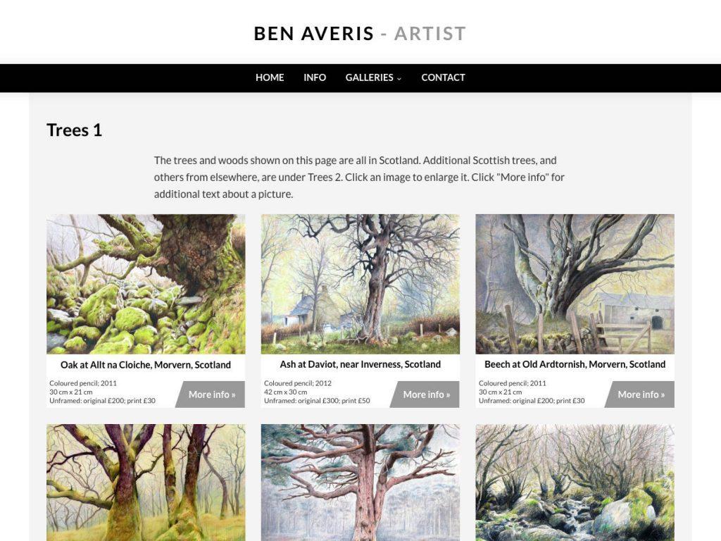 Ben Averis Artist website