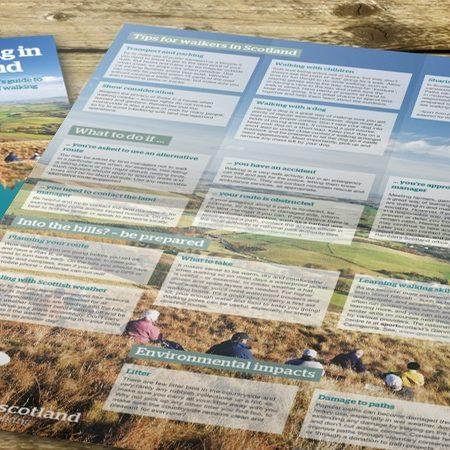 Ramblers Scotland 12pp dl leaflet